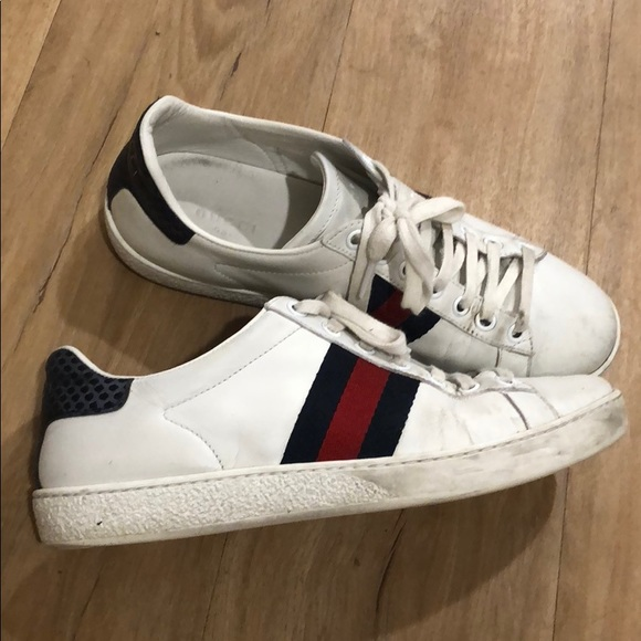 146bed8b8a4 Gucci Shoes - AUTHENTIC Gucci ace leather Sneaker size6 navy red